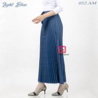 rok jeans plisket washed osh tebal lipitan lebar jumbo wanita premium