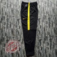 Training nike original bahan diadora Trening murah Celana joging - Hitam-Kuning, XL