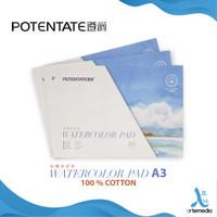 Kertas Cat Air Potentate A3 Cotton 300gsm Watercolor Paper Pad