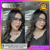 Kacamata Minus Wanita 8197 Premium Korea Vintage Lensa Photocromic UV