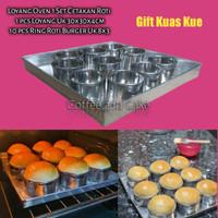 Loyang brownies / cetakan kue / ring oval hotdog Murah set - Loyang 30x30