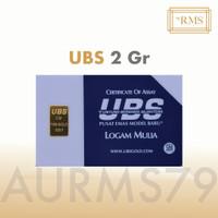 Emas UBS 2 Gram Logam Mulia, termasuk Sertifikat