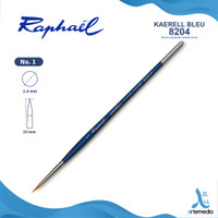 Kuas Lukis Raphael 8204 Round Kaerell Bleu Synthetic Brush Short Handl