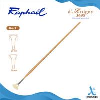 Kuas Lukis Raphael 3695 Fan D Artigny Hog Bristle Brush Long Handle