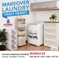 Laundry Box - Lemari Kabinet - Rak Sepatu - Olymplast Bundle 2
