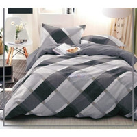 Bedcover Set Jaxine Sprei Katun Motif Geometris Calvin Size Double