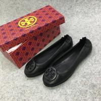 tb shoes flat plat hitam