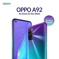 OPPO A92 Stream Purple - 128GB/8GB Garansi Resmi