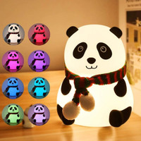 Lampu tidur Portable Panda 7 Warna / touch led lamp Squishy 2