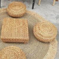Bantal Bulat anyaman enceng gondok / Round pouffe Water Hyacinth