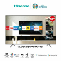 HISENSE 50 Inch Smart Android 9.0 LED 4K UHD TV - 50A7400F