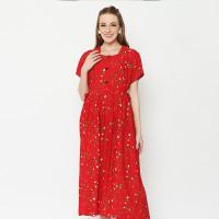 Daily Wear Adinata Batik Lexa Red Long Dress