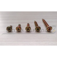 Wafer head screw #10x35 - Sekrup roofing 3.5 cm kuning obeng 100pcs