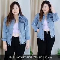 Jimin Jacket Bigsize JAKET JEANS LENGAN PANJANG SUPER JUMBO XXL 2L 2XL