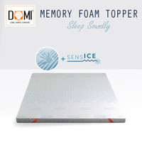 Domi Topper Memory Foam 120 x 200 Mattress Kasur Springbed Spring Bed