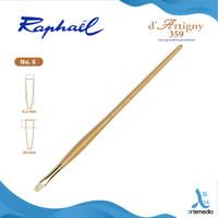 Kuas Lukis Raphael 359 Long Flat D Artigny Hog Bristle Brush LH