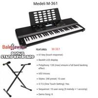 Keyboard Medeli M361 M-361 M 361 Keyboard 61 Key ORIGINAL Bonus Stand