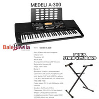 Keyboard Medeli A300 A-300 A 300 Keyboard 61 Key ORIGINAL Bonus Stand