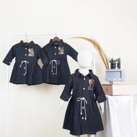 Pakaian Fashion Baju Dress Tunik Anak Perempuan Cewek Jeans - JEANS HITAM, 4 (5 THN)