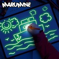 MARUMINE Mainan Edukasi Papan Menggambar Ajaib Magic Luminous Drawing