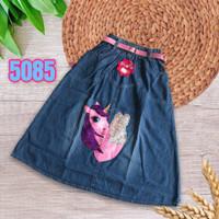 NomenaKids ~ 5085 Rok panjang jeans LED/Lampu anak perempuan