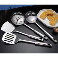 Set alat masak dapur set isi 4pcs - stainless steel