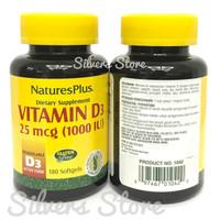 Natures Plus Vitamin D3 D 3 1000 iu 1000iu (180 softgel) Original