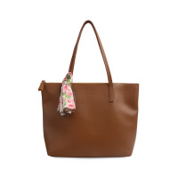 Tas Tote Les Catino Marvella Tote New Tan/Yellow With Scarf