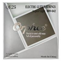 1 Set Senar Gitar Listrik/Electric Guitar Orphee QE25 Size 9 Original
