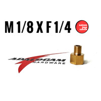 Sok Nepel M 1/8 x F 1/4 Full Brass