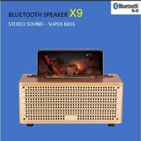 Speaker bluetooth X9 stereo sound super bass whit phone holder