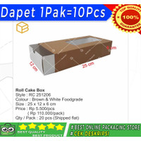 RC251206 - Roll cake box. Packaging. Cake box