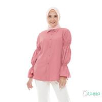 Atasan Wanita Muslim | Lamia Top Rose | S M L XL | Tazkia Hijab Store