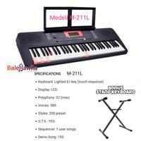 Keyboard Medeli M211L M-211L Keyboard 61 Key ORIGINAL Bonus Stand