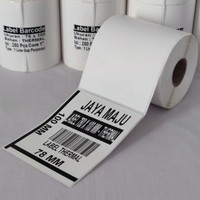 LABEL BARCODE 100 X 150 MM KERTAS STICKER DIRECT THERMAL 78 X 100 MM