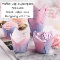 RAINBOW CASE BOLU HONGKONG TATAKAN CHIFFON CAKE CUPCAKE