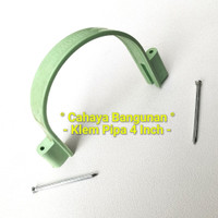 "Klem Pipa Air Pvc Peralon Pralon Rucika Arrow 4""Inch Inc Tembok Kayu"