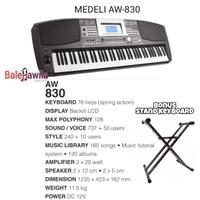 Keyboard Medeli AW830 AW-830 Keyboard 76 Key ORIGINAL Bonus Stand