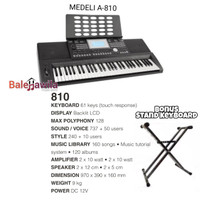 Keyboard Medeli A810 A-810 A 810 Keyboard 61 Key ORIGINAL Bonus Stand
