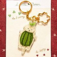 Acrylic Key Chain Little Clover Mr. Bobby / Gantungan Kunci