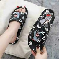 Sandal fashion sandal mickey Size 36-40 Hitam & kuning