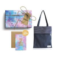 Paket Hadiah Valentine Totebag Pinstripe & Gift Set Harvest - Tie Dye
