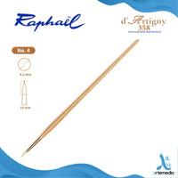 Kuas Lukis Raphael 358 Round D Artigny Hog Bristle Brush Long Handle