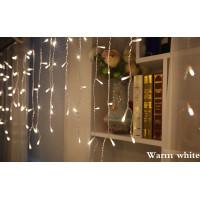 Lampu Tumblr Natal Hias Tirai LED dekorasi Hias Pohon Natal Warm,Putih