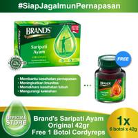Brand's Saripati Ayam Original 42 Gr Free 1 Botol Brand's Cordyceps