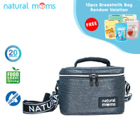 Thermal Bag / Cooler Bag Natural Moms - Single Frio Stone