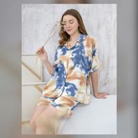 Sadie Set in Ocean Blue - Sleepwear / Piyama Baju Tidur Rayon RAHA