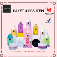 SCARLETT WHITENING PAKET HEMAT 4 ITEM - SCARLET BODY LOTION ORIGINAL