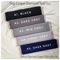 Jilbab Segi Empat Syari Diamond Crepe 130 x 130 cm