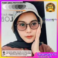 Kacamata KOREA Wanita Minus Lensa Photocromic Antiradiasi